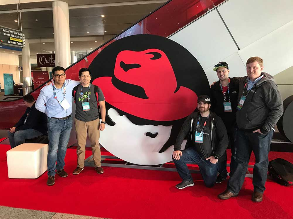 Operation Code members pose at Red Hat Summit 2017