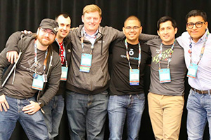 Operation Code members pose together at Red Hat Summit 2017